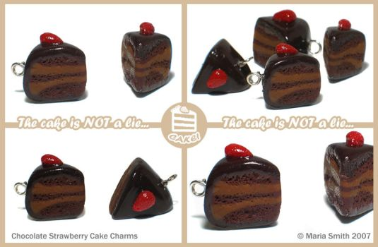 Chocolate Cake Charms by chat-noir