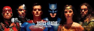Official Justice League Banner (with Superman) by Artlover67