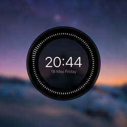 Huawei-like clock for Rainmeter v1.1 by braindefender