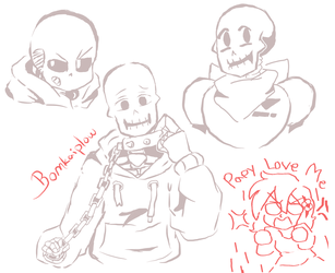 Small Undertale doodles by Bomkaiplow