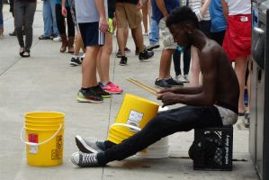 Drumming on the streets of Chicago IL 6/29/15 9:47 by Crigger