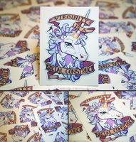 Feminist Unicorn Vinyl Stickers by KiRAWRa