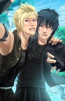 Prompto x Noctis by Corrupted-Mooch