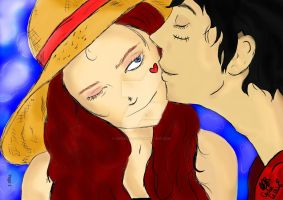 Luffy Love by SwordFire19