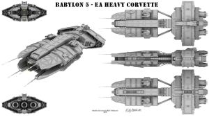 Babylon 5 - EA Heavy Corvette by Mallacore