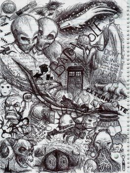 Doctor Who sketch vomit by padfoot2012