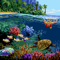 Octobit day 25: Coral reef by Retronator