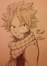 Natsu Dragneel [improved sketch] by MerlynsMidnight
