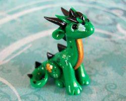 Little Green Luck Dragon by DragonsAndBeasties