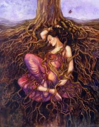 Tangled (The Dreaming Dryad) by janetchui