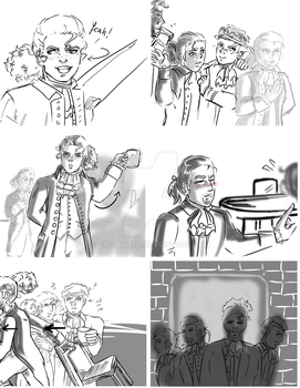 The Story Of Tonight - frames of my animatic by GioTanner