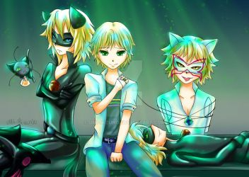 Miraculous - Chat Boys. by Umi-Mizuno