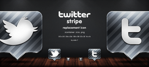 twitter stripe icon by Side-7