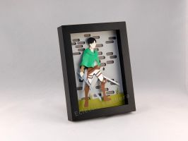 Attack on Titan (SnK) Levi Ackerman Shadow Box by elathera