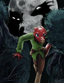 Tik Tik Kobold in the Woods by tcat