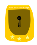 The hard to access badge by WicherOfficial