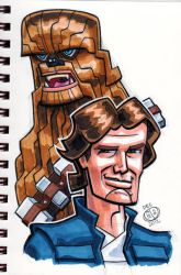 Han Solo and Chewbacca by Chad73