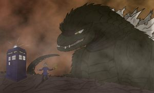Godzilla meets the Doctor by Baka2niisan