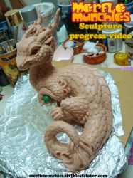 Eastern Dragon Sculpture Video WIP by The-SixthLeafClover