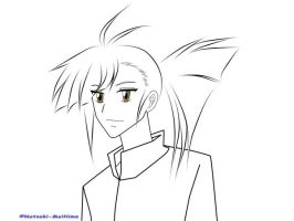 Manly Secchan uncolor by Natsuki-MaiHiME