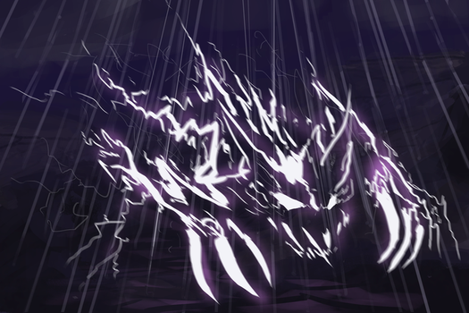 Lightning Elemental by IroniaWhite