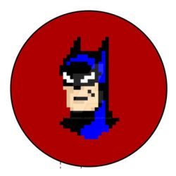 Batman Pixel Portrait by DanRussell93