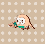 Pokemon Ultra SM - Rowlet Animation by chocomiru02