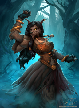 Witchwood Reveler - Hearthstone Fanart by TehSasquatch