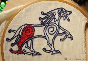 WIP - slavic/viking embroidery by veruce