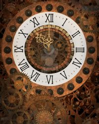 Steampunk Clock Background 1 by Elle-Arden
