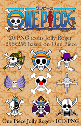 One Piece PNG icone Jolly Roger by Crountch