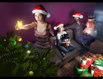Xmas Ellie, Sarah, Joel by DemonLeon3D