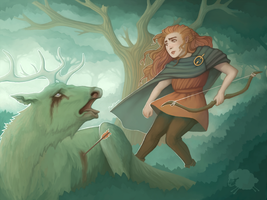 Alder and The Stag by RedFleece