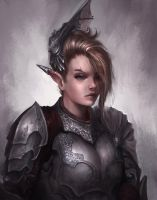 Elf Soldier by Coffeeater