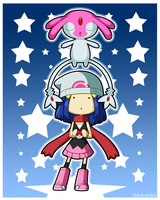 Pokemon DP Girl and Mesprit