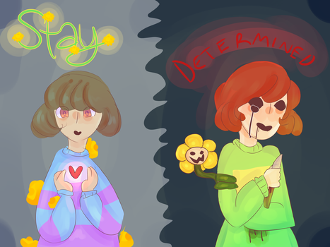 Chara and frisk by SoulLovesArt