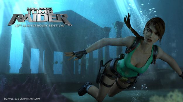 Tomb Raider Anniversary edition: Underwater temple by doppeL-zgz