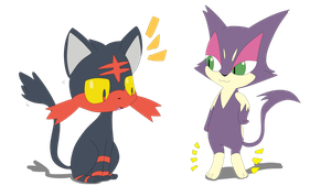Purrloin and Litten