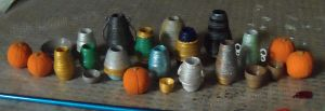Miniature Pumpkins and Pottery by Kyle-Lefort