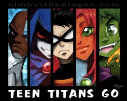 Teen titans nostalgia by lizleeillustration