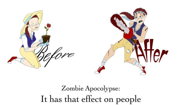 Before +After Zombie Apocolype by xxanARTchistxx