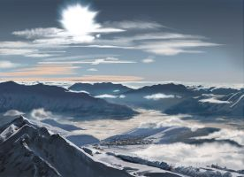 Mattepainting - Mountain by oennarts
