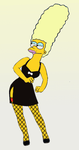 Marge Simpson as Claudia Riviera by paulibus2001