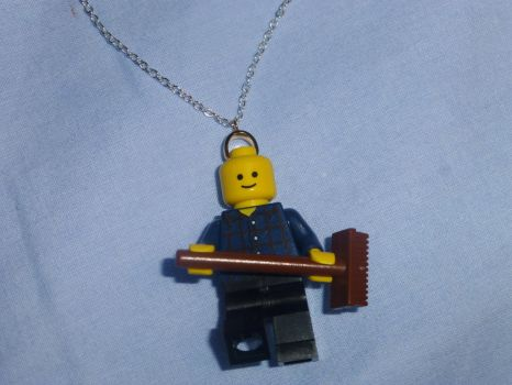 Lego Man Necklace 1 by Duck-With-No-Name