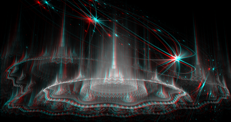 Palace of Vishnu Anaglyph 3D Stereoscopy by Osipenkov