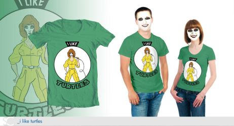 T-Shirt Designs - I Like Turtles by dschuler-creative