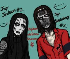 Slipknot old and new Drummer by unokaei