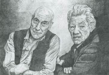 Patrick Stewart and Ian Mckellen by The-Wheels