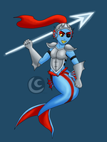 Mermaid Undyne by hotcheeto89