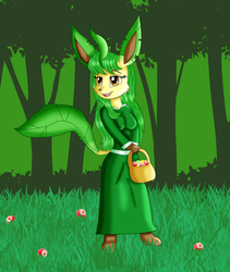 Petunia the Leafeon Redraw by KendraTheShinyEevee